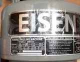 Eisen S-2MH Milling Machine Head, Step Pulley, 16SP, R8, 3 HP, 220V, 3-phase