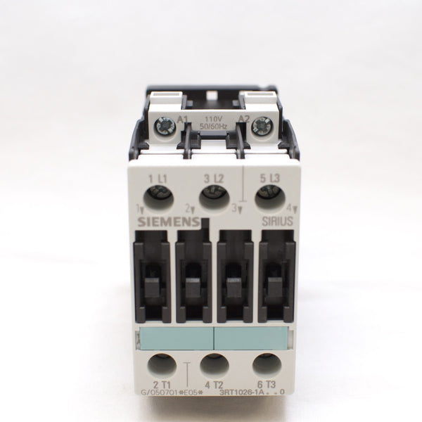 Siemens Magnetic Contactor 3RT1026-1AG20, 110V coil