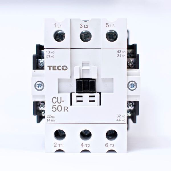 TECO CU-50R Magnetic Contactor, 80 Amp, 3 Phase, 110V Coil, 3A2a2b (TAIAN CN-50)