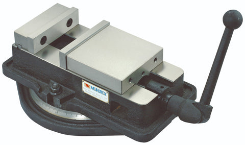 "4"" Angle-Locking Milling Vise w/ Swivel Base (Vertex VA-4), Made in Taiwan"