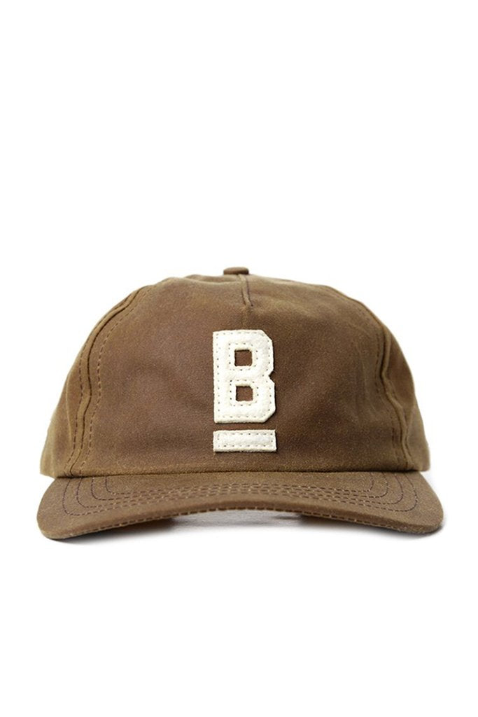 B Flat Cap Waxed Canvas Brown