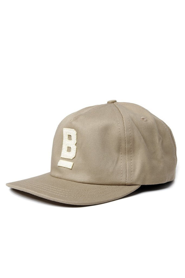B Flat Cap Cotton Twill Khaki