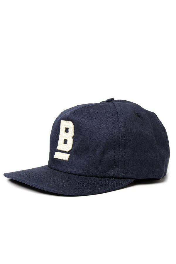 B Flat Cap Cotton Twill Navy