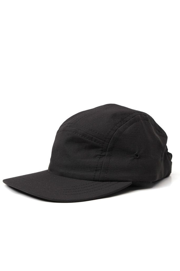 Camper 5 Panel Cap Black