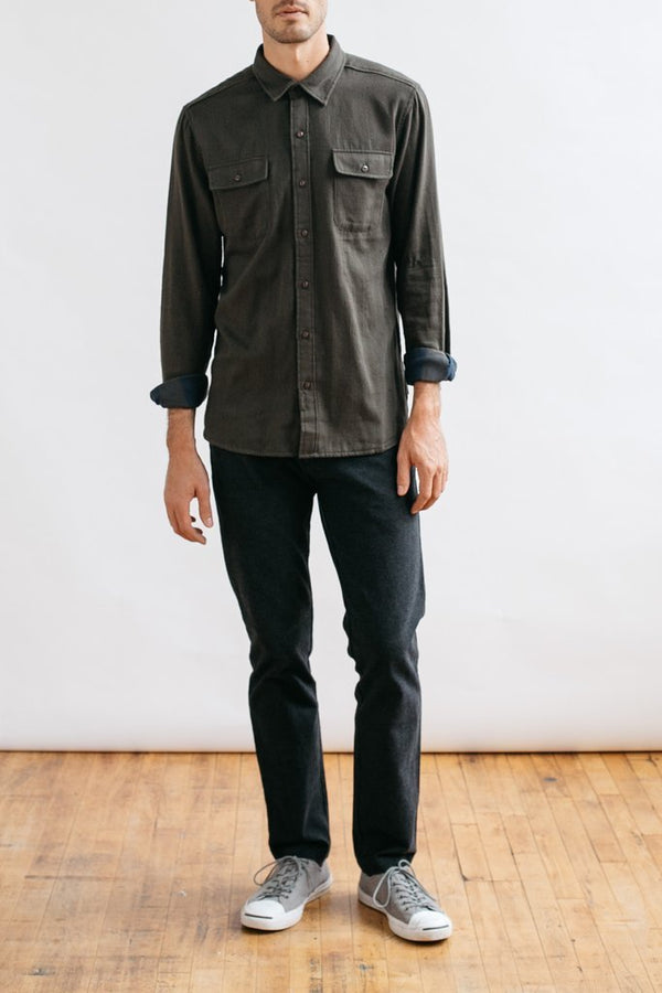 Cole Olive Double Cloth