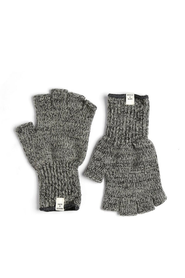 Ragg Wool Fingerless Glove Charcoal