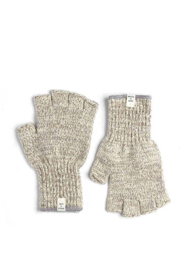 Ragg Wool Fingerless Glove Oatmeal