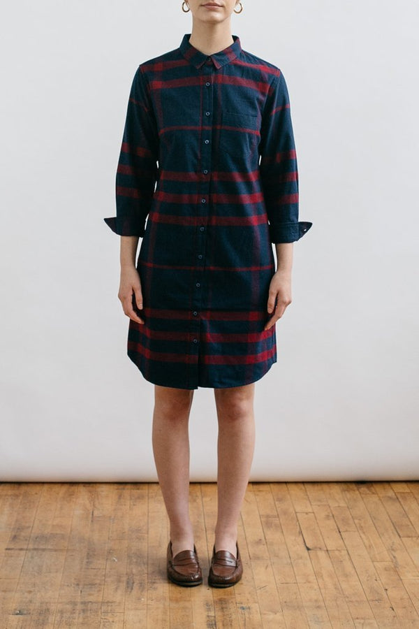 Margot Navy-Red Plaid