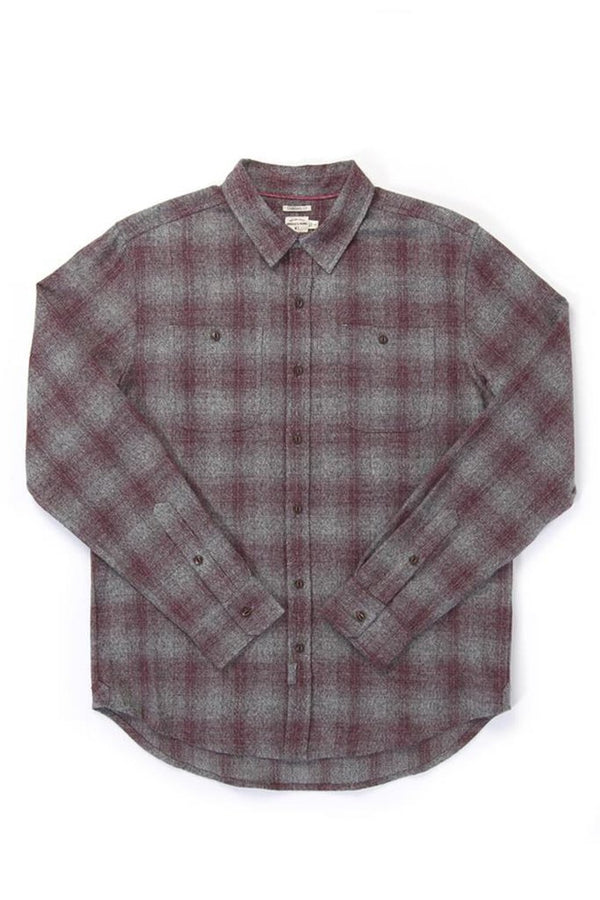 Winslow Burgundy Ombre Flannel