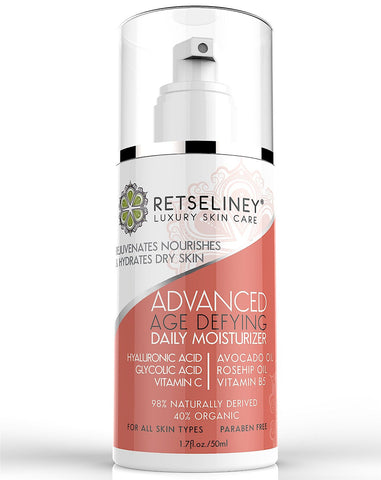 Advanced Age Defying Moisturizer, Reduces Age Spots, Scars, Discoloration, 1.7 Fl. Oz