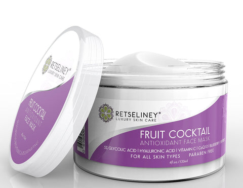 Antioxidant Clay Facial Mask, Brightening & Rejuvenating for Dull Skin, Tightens, Pore Reducer.