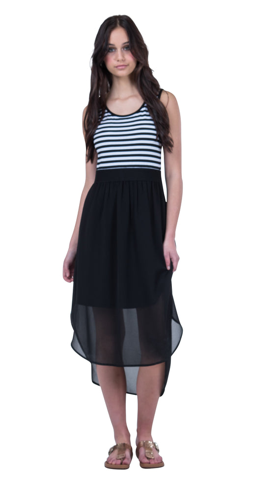 Pretty Basic Siri Midi Dress - Black