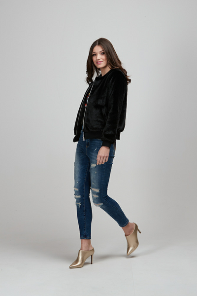 Pretty Basic Ruby Jacket - Black