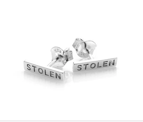 Stolen Girlfriends Club - Tiny Stolen Bar Earrings