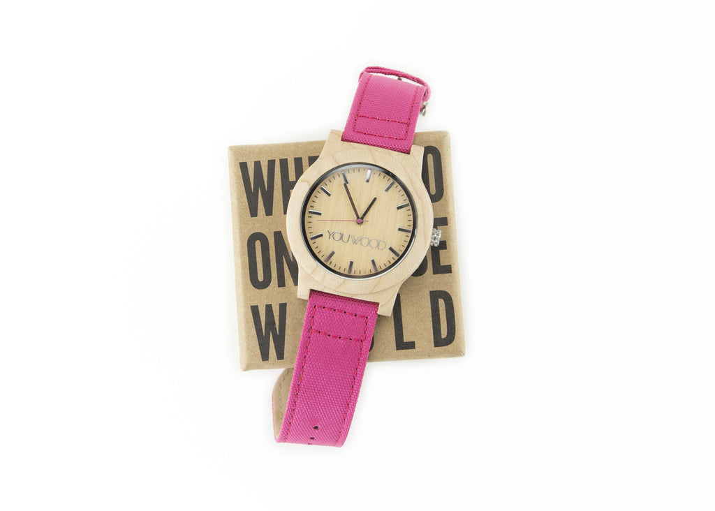The Watch - Maple & Pink Band
