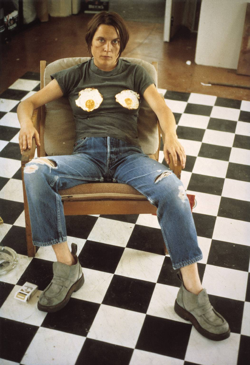 Sarah Lucas, Self-portrait with Fried Eggs, 1996