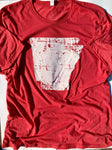 Distressed Arkansas Red Tee