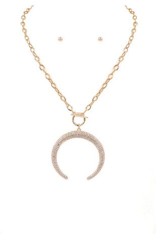 Kingston Crescent Necklace in Gold