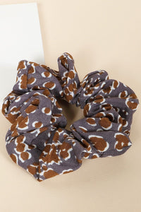 Wild Thing Leopard Scrunchie in Grey