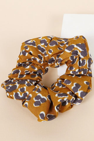 Wild Thing Leopard Scrunchie in Mustard