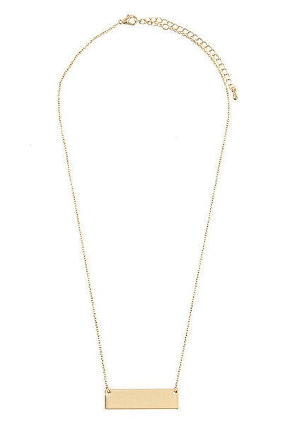 Bar Necklace in Gold or Silver