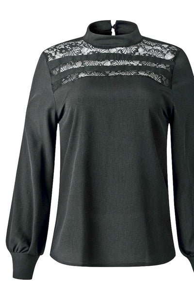 Lonesome Dove Black Lace Top