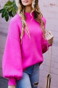 Candyland Pink Bubble Sleeve Sweater