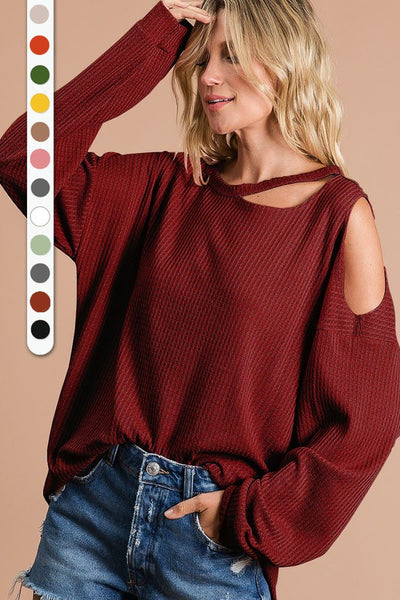 Holly Top in Burgundy