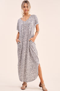 Grey Mood Leopard Maxi Dress
