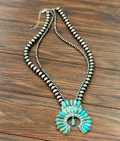 Lonestar Squash Double Strand Necklace