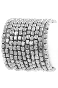 Dallas Bracelet Stack in Silver