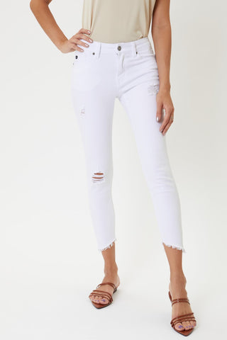 Bright White Cropped Denim