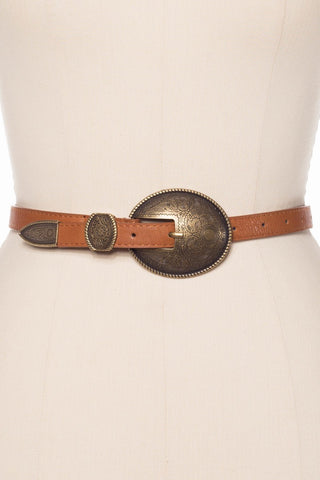 Rio Western Gold Buckle Belt