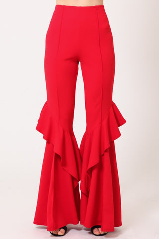 Ruffle Bells in Red