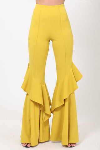 Ruffle Bells in Yellow