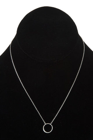 Little O Necklace in White Gold