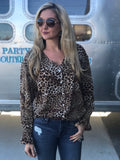 Gomez Leopard Button Down Top