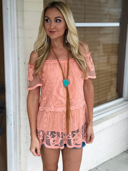 Georgia Peach Off the Shoulder Top