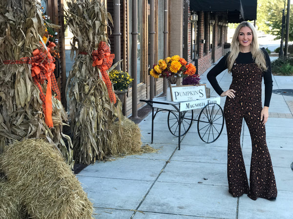 Queen of the Jungle Animal Print Overalls
