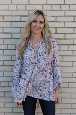 The Magnolia Tunic (in Cream)