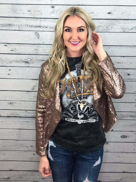 Bellamy Bronze Sequin Blazer
