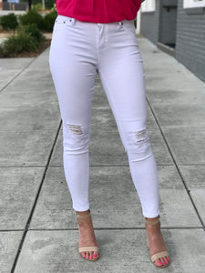 Wonder White Denim Skinny Jeans