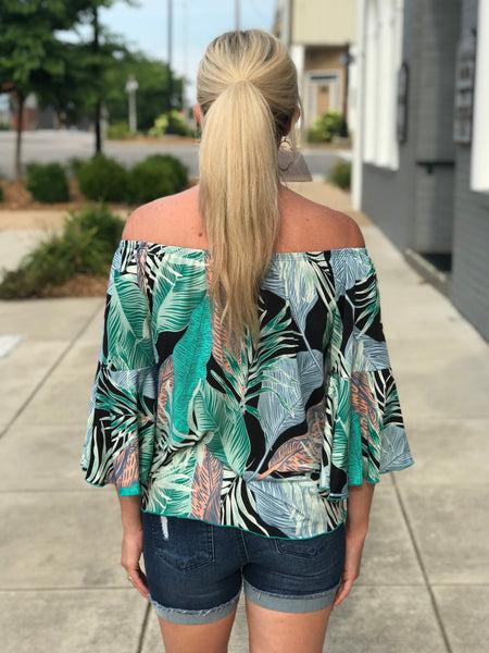 Palmetto Off the Shoulder Top