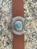 Western Turquoise Buckle & Belt