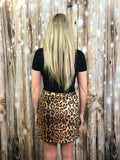 Leopard Lace Up Skirt
