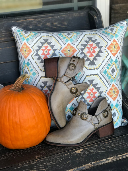 Almost Famous Concho Booties in Taupe