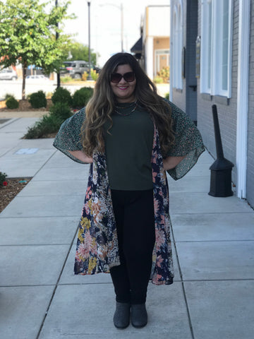 Sweet Escape Kimono in Plus