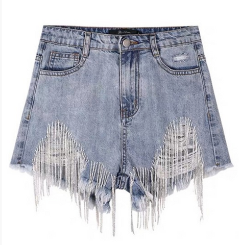 Drippin' Diamonds Denim Shorts