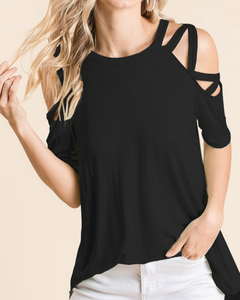 Long Way Home Top in Black