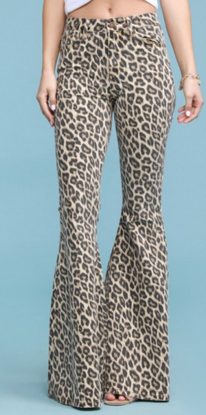 Lulu Leopard Denim Bells